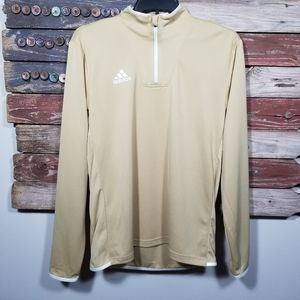 Adidas Men's 1/4 Zip Climalite LS Pullover New